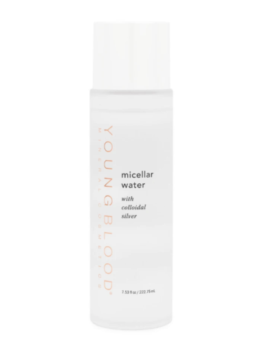 All in one cleanser, toner and purifier. Youngblood's Micellar Water with Colloidal Silver leaves skin perfectly cleansed, soft and supple. Colloidal Silver helps detoxify, purify and revitalise skin leaving it free of microbials and impurities. Perfect for those with ultra-sensitive skin.